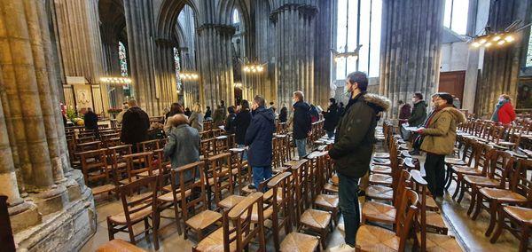 Rouen le 6 décembre 2020 : nouvelles mesures sanitaires à la cathédrale