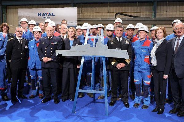 Florence Parly, ministre des Armées, à Lorient pour lancer la fabrication de la nouvelle frégate FDI