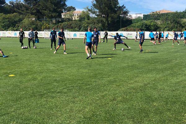 Les joueurs de l'Olympique de Marseille s'entrainement à La Commanderie ce vendredi 7 mai.