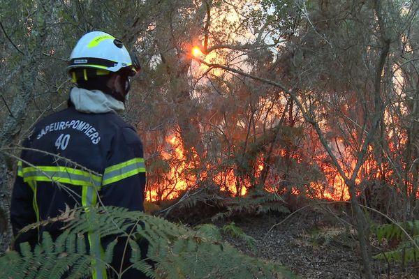 Plus de 200 sapeurs pompiers étaient mobilisés dans les Landes au plus fort des deux incendies