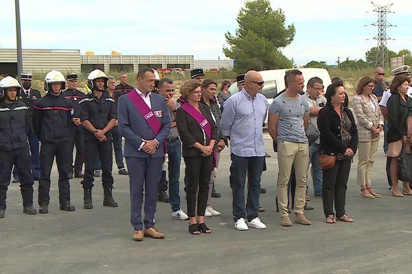 Béziers (Hérault) - Hommage à Jérémy Beier, pompier mort au feu à 24 ans après l'incendie de Gabian - 21 septembre 2021.