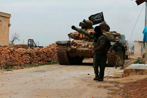 Image issue d'une vidéo de propagande de l'EI, montrant des combattants en Syrie, en janvier 2018.