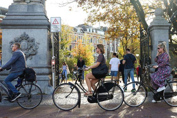 La ville d'Amsterdam, aux Pays-Bas.