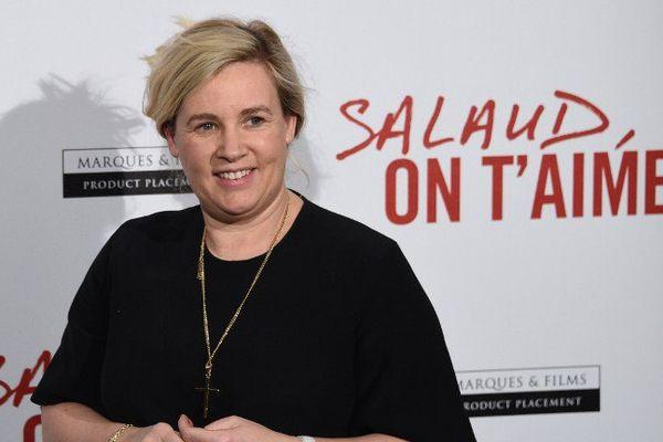 """Hélène Darroze, le 31 mars 2014 lors de la présentation du film """"Salaud, je t'aime"""" de Claude Lelouch"""