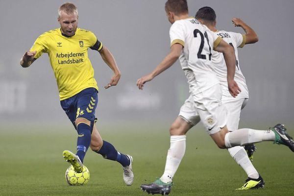 Johan Larsson lors des plat-offs de l'Europa Leagueopposant le club de Brondby IF au KRC Genk - 30/08/2018