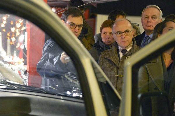 Le ministre de l'Intérieur Bernard Cazeneuve, s'est rendu à Nantes dès lundi soir