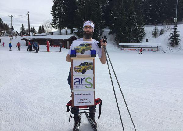 L'équipement d'Yves Duffait pour faire 68 km de course
