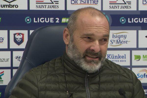 Pascal Dupraz, entraîneur du Stade Malherbe de Caen, ce lundi 11 janvier