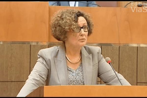 Maria Guidicelli, conseillère exécutive en charge du PADDUC a débuté la séance par un discours en langue corse.