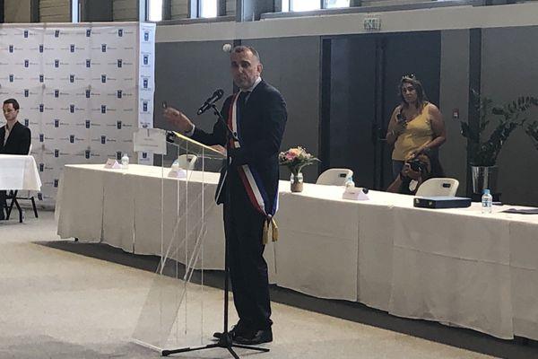 Jean-Christophe Angelini a prononcé son premier discours de maire, samedi au COSEC à Porto-Vecchio.
