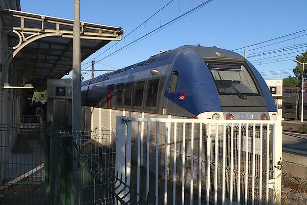 Un TER de la région Occitanie en gare de Lunel (Hérault) - Illustration