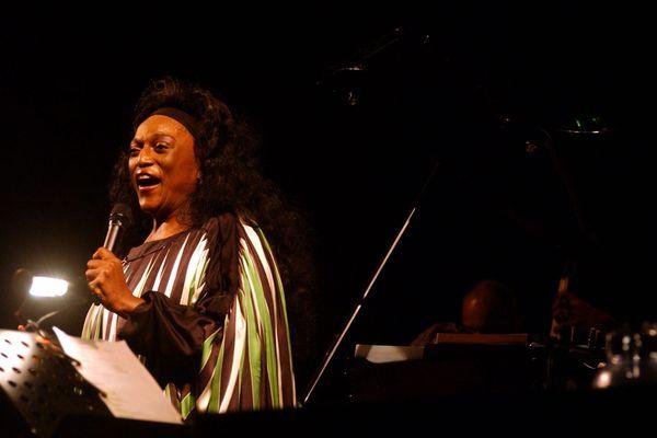 La cantatrice américaine Jessye Norman au Nice Jazz festival en 2004.