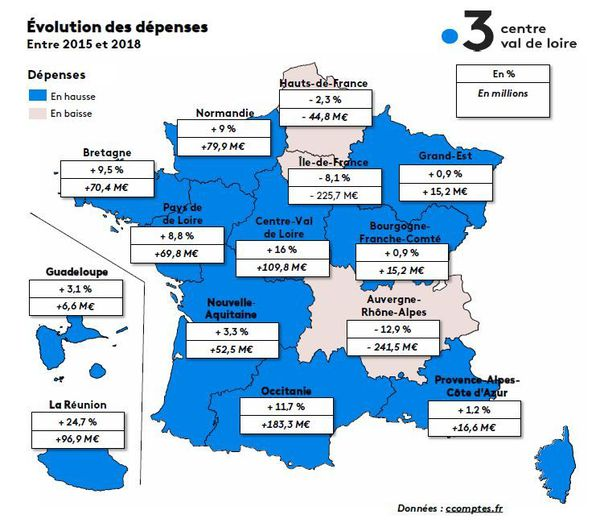 Carte par régions
