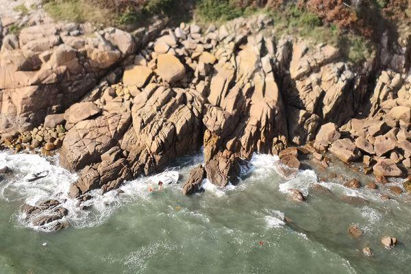 Une vedette s'est échouée contre des rochers dans le secteur de Port Manec'h (29)