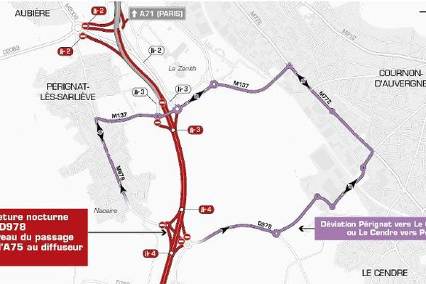 Déviation entre Pérignat-lès-Sarlièves et Le Cendre.