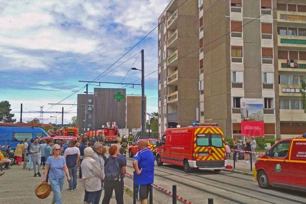 9 juillet 2020- Le Havre - Intervention des secours avenue du Mont-Gaillard