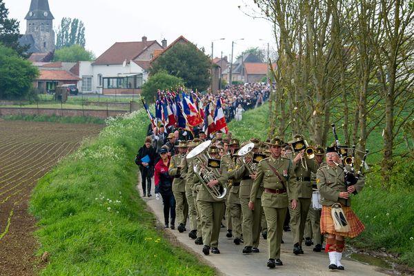 Lors de l'Anzac Day, de nombreux Australiens se rendent à Bullecourt pour rendre hommage à leurs ancêtres.