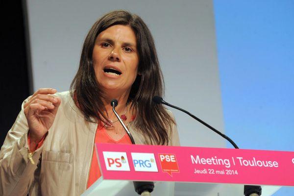 Virginie Rozière lors de la campagne des Européennes en 2014.