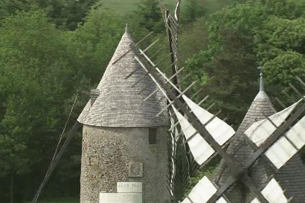 En Vendée, le Mont des Alouettes compte encore trois moulins à vent