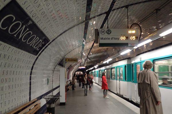 La station Concorde du métro parisien (illustration).