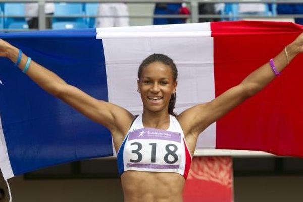 Aurélie Chaboudez lors de sa victoire aux JO de la jeunesse en 2010