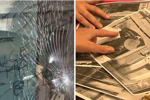 En juin 2017, les parents de César avaient retrouvé la vitrine de leur magasin fracassée et taguée d'insultes.