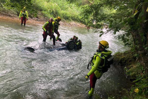 l'intervention des pompiers de l'Ariège à Camon