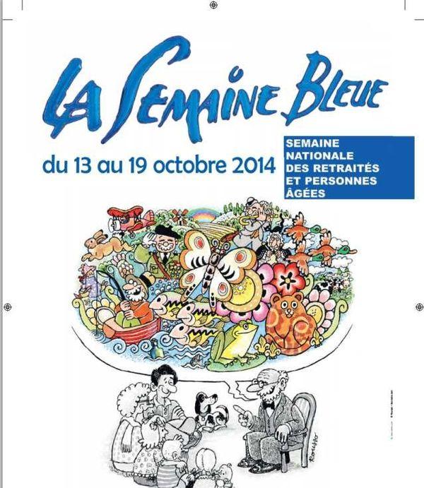 Affiche de la Semaine bleue 2014