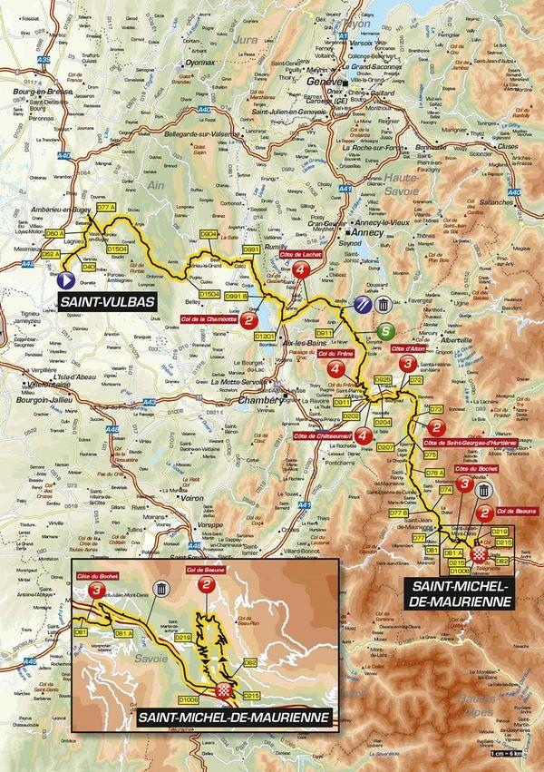 Critérium du Dauphiné 2019 : le parcours de la 6e étape