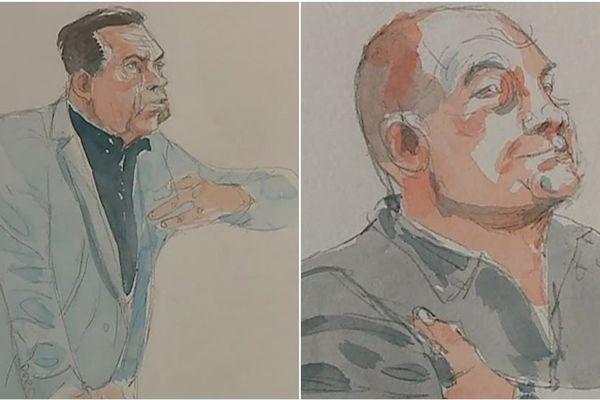 """L'expert psychologue (à gauche) décrit Philippe Gillet (à droite) comme un homme """"narcissique"""", """"méticuleux"""" et """"égocentrique"""""""