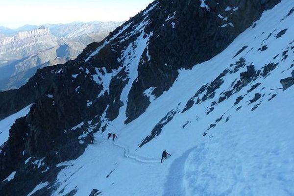 Le col du Goûter est une étape réputée dangereuse de l'ascension du Mont-Blanc