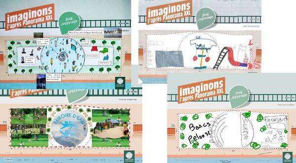 Au cours de la consultation citoyenne, chaque dessinateur a laissé parler son imagination pour remplacer le Panorama XXL.