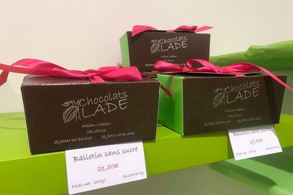 Ballotins de chocolats sans sucres ajoutés