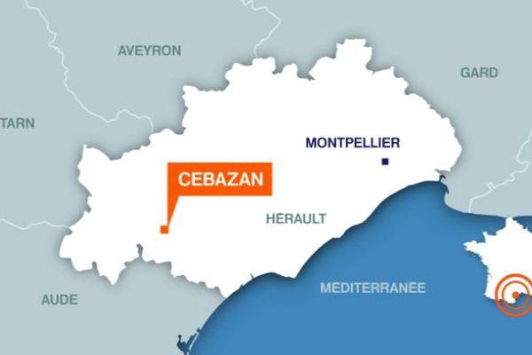 Carte Cébazan (Hérault)