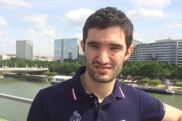 Emmanuel Lebesson fait partie de l'équipe de France de tennis de table pour les Jeux Olympiques de Rio en août.