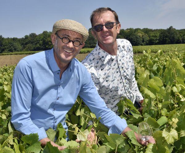 Jean-Michel et Laurent Poiron-Dabin,cultivent et vinifient le Berligou à Château-Thébaud