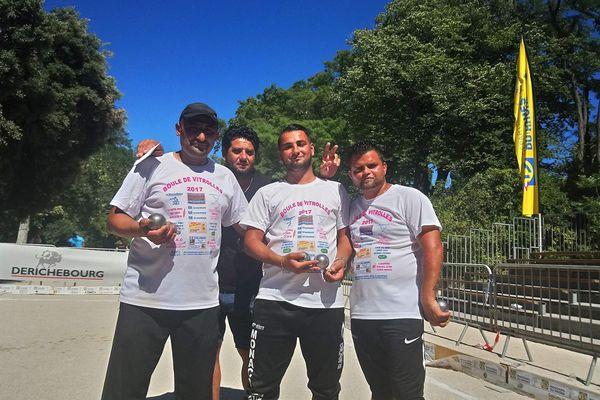 L'équipe Zeboudj après sa victoire