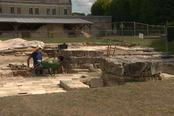 Les fouilles archéologiques réalisées sur le site de l'abbaye Saint-Médard de Soissons