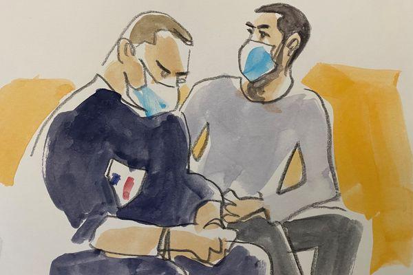 Hicham Ouakki dans le box des accusés devant la cour d'assises de Haute-Garonne