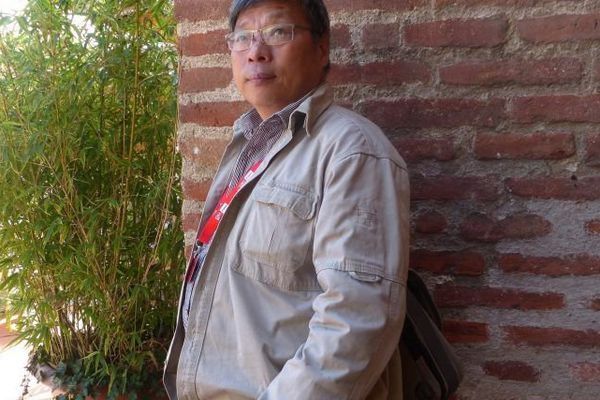 En Chine, Lu Guang ne donne quasiment pas d'interview. À Perpignan, il a répondu aux questions des étudiants de l'ESJ Montpellier devant ses photos exposées au Couvent des Minimes.