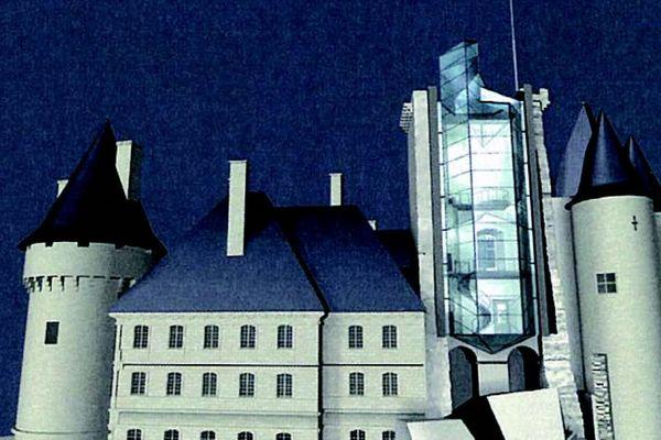 Un donjon de verre imaginé par Pei pour continuer l'aventure architecturale du château millénaire.