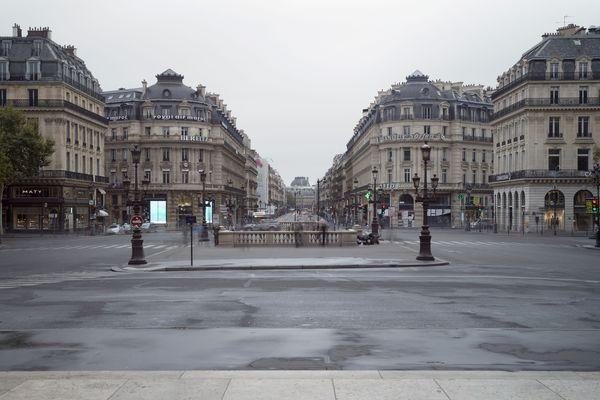 La place de l'Opéra à Paris, lors de la journée sans voiture en 2015.