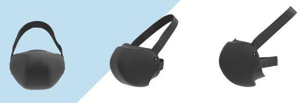Prototype du masque barrière de Décathlon pour retourner faire du sport en salle.