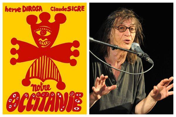 """Oeuvre de Hervé Di Rosa illustrant le livre """"Notre Occitanie"""" et Claude Sicre (Photo MaxPPP Frédéric Charmeux)"""