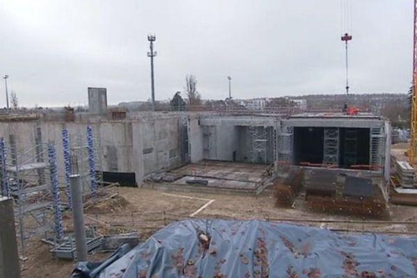 La future Maison de la culture, à Bourges, commence à sortir de terre et doit être achevée au cours de l'été 2020.