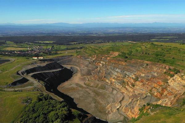 Site de l'ancienne mine d'or de Salsigne dans l'Aude, près de Carcassonne.