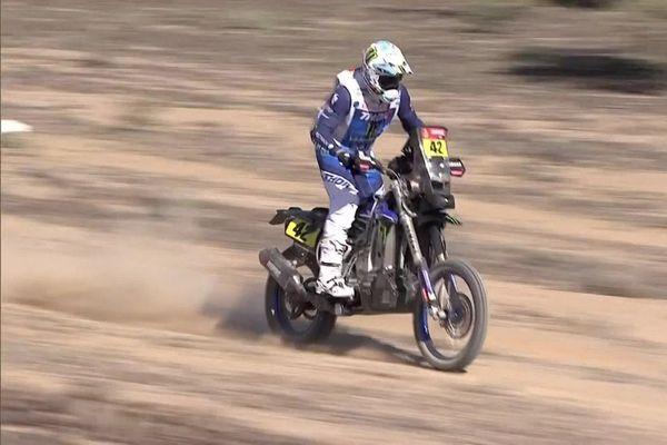 Adrien Van Beveren lors de la première étape du Dakar 2021.