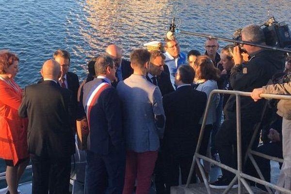 Visite d'Emmanuel Macron au Guilvinec