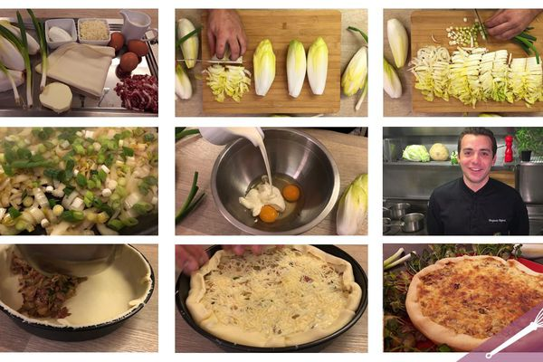 Toutes les étapes de la recette de la tarte aux endives