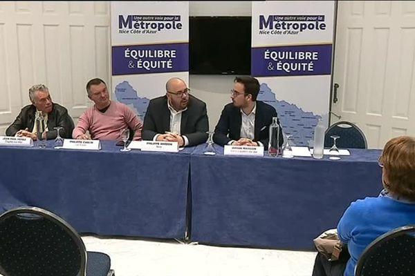 Le Rassemblement National présente ses têtes de liste dans la Métropole de Nice pour les élections municipales de 2020, le 19 novembre 2019